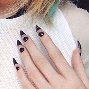 kylie-jenner-nails-clear-crescent